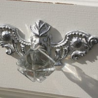 1 - Back plate / Furniture Applique / Shabby chic furniture / Romantic Cottage / DIY projects / onlays / painted furniture