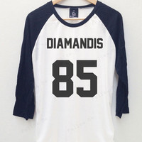 Marina Diamandis The Diamonds Band Tees Baseball T-shirt Jersey Long Sleeve Baseball shirt 3/4 Men shirt Women shirt Baseball tees