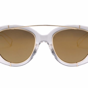 Aviator Framed Sunglasses Mirrored Colored Lenses Vintage Retro Style Unisex Shades