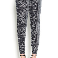 High Rise Paisley Joggers