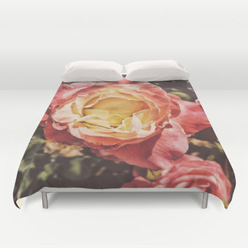 Rosey Posey Duvet Cover by DuckyB (Brandi)