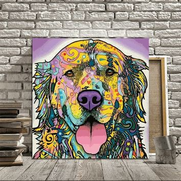 Nordic Style Decorative cute dog Modern Simple oill Paintings Living Room Wall Decoration