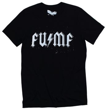 FU / MF - F#%k You MuthaF#%k@ Black Graphic T-shirt - Band Tour Merch Tee