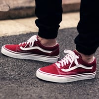 Vans Classics Old Skool Green/Wine red Sneaker