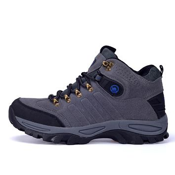 Men Outdoor Hiking Shoes Athletic Trekking Boots Men Climbing Waterproof Sports Shoes Sneaker Snow Boots Skid Autumn Winter