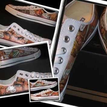 Comic Book Shoes - Chuck Taylor AllStars - XMen, Wolverine, Emma Frost, Gambit, Rogue