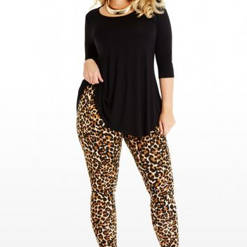 Plus Size Animal Print Leggings | Fashion To Figure