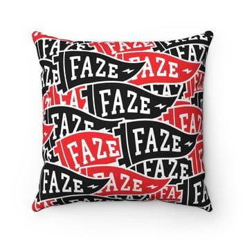 FAZE Flag Pillow in black and red