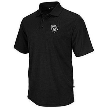 Oakland Raiders Majestic Moist Management Polo Shirt Size MT