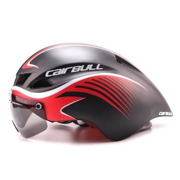 CAIRBULL 290g Aero TT Road Bike Helmet Men/Women Goggle In-mold Mountain Bicycle Helmet Ultralight Sport MTB Cycling Equipment