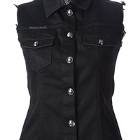 Philipp Plein Sleeveless Denim Jacket