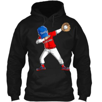 Dabbing Baseball Boys Men Kids Catcher Pitcher Gifts Pullover Hoodie 8 oz