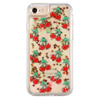 Cherry Bomb Dual Glitter iPhone Case