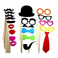 Photo Booth Props - 19 Piece