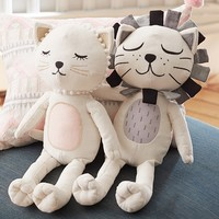 Emily & Meritt Cat & Lion Plush | Pottery Barn Kids
