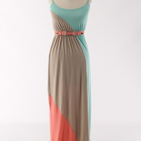 Tres Colored Stripe Maxi Dress