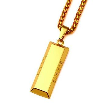 18K Gold Brick Supreme Chain