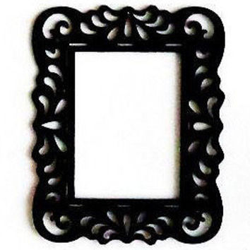 Black Open Back Ornate Frames 8.5x11 fits from Theartoffinerthing