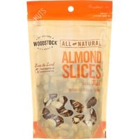 Woodstock Natural Almonds Thick Sliced - 8 oz
