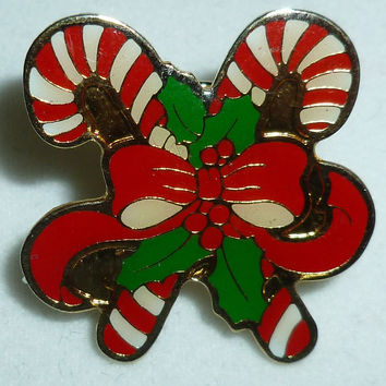 Christmas Candy Canes Pin