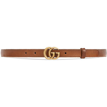 Gucci Leather Belt With Double G Buckle - Farfetch