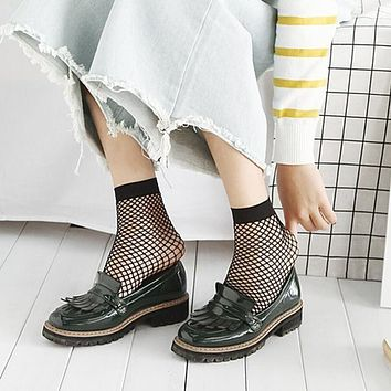 Sexy Women Girls Black Hollow Out Breathable Socks Mesh Fishnet Socks Female Ankle Socks