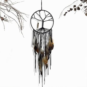 Hot Sale Tree of Life Dreamer Dreamcatcher Interior Accessories Crystal Amulet Pendant Handmade Ornaments