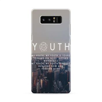 Troye Sivan Youth Lyrics Samsung Galaxy Note 8 Case