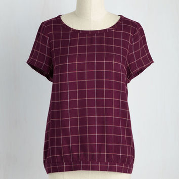 Present and Accountant For Top | Mod Retro Vintage Short Sleeve Shirts | ModCloth.com