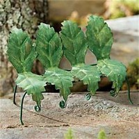 Miniature Dollhouse FAIRY GARDEN ~ Tiny Leaf Bench – Green ~ NEW