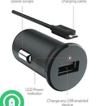 ONETOW Turbo Fast Powered 15W Bose SoundSport Wireless Headphones Car Charger with Detachable Hi-Power MicroUSB Cable!