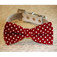 Red Dog Bow tie collar, Red dog Bow tie, Cute, Dog Lovers, Pet Accessory