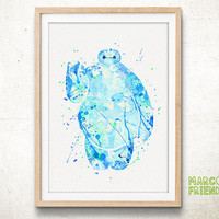 Baymax Disney - Watercolor, Art Print, Home Wall decor, Watercolor Print, Disney Big Hero 6 Poster