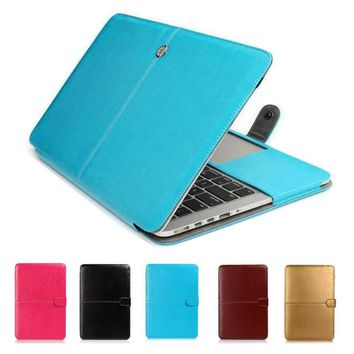 For 2016 New Macbook Pro 13 15 with and without Touch Bar A1706/A1708/A1707 Premium Sleeve Bag Leather Cover Case