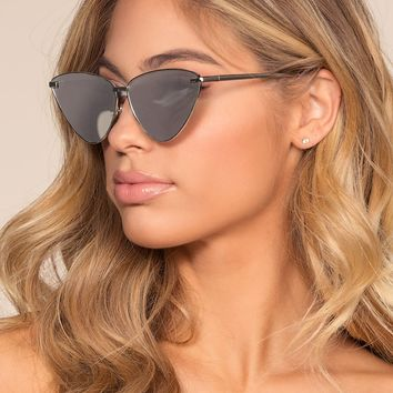 Ain't Kitten Around Sunglasses - Silver