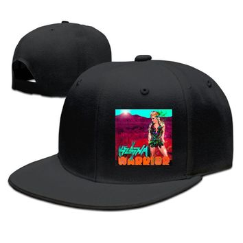 Kesha Warrior. Breathable Unisex Adult Womens Hip-hop Hat Mens Fitted Hats