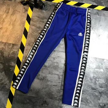 KAPPA men and women with the same string of white striped webbing pants F-XMCP-YC