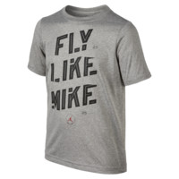 "Jordan Motivational Dri-FIT ""Fly Like Mike"" Boys' T-Shirt, by Nike Size Medium (Grey)"