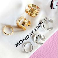 Shiny Stylish New Arrival Jewelry Gift Korean Accessory Simple Design Ring [6573115399]
