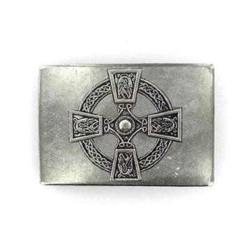 Celtic Cross Rectangle Belt Buckle