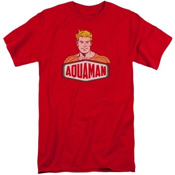 Dco - Aquaman Sign Short Sleeve Adult Tall Shirt Officially Licensed T-Shirt