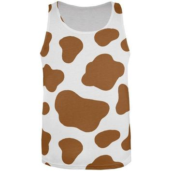 CREYCY8 Halloween Costume Brown Spot Cow All Over Mens Tank Top