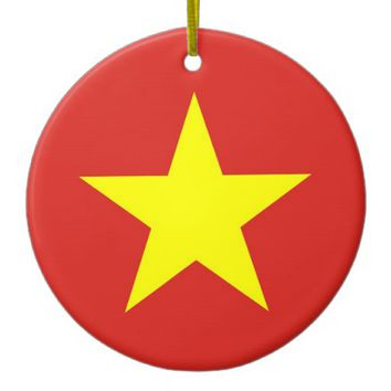 Ornament with flag of Vietnam