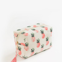 Jacie Pink Pineapple Cosmetic Bag