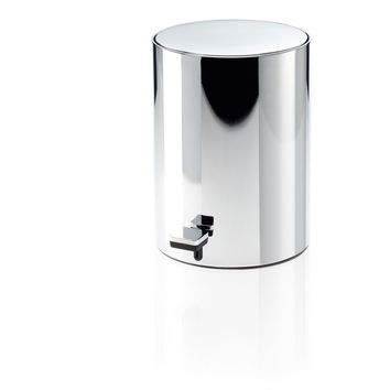 DWBA Soft Close Round Step Trash Can, Stainless Steel Wastebasket W/ Lid. Chrome