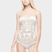 Versace Embossed Medusa Head Swimsuit for Women | US Online Store
