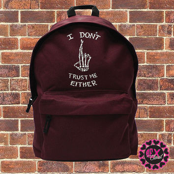 I Don't Trust Me Either - Luke Hemmings backpack fashion bag 5SOS - school