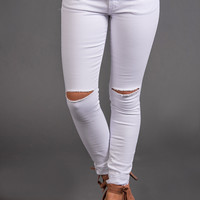 Fifth Avenue Distressed KanCans (White)