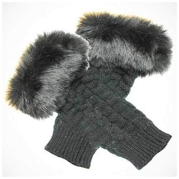 Pretty Warmers - Faux Fur Gloves for Winter
