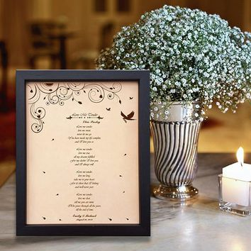 Lik21 Leather Engraved Wedding Third Anniversary Gift Personalized Anniversary Gift wedding First Dance Lyrics